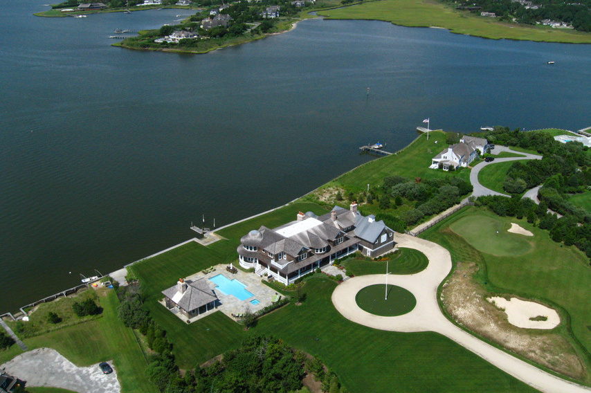 Dune Road Waterfront Home   Aerial Bay View. As Hamptons Builders Of  High Quality Luxury Homes ...