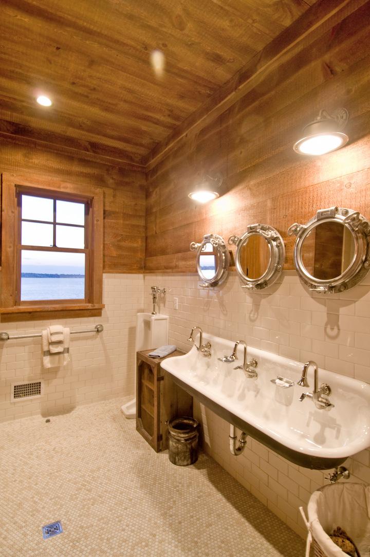 Rustic nautical bathroom hamptons industrial rustic bathroom