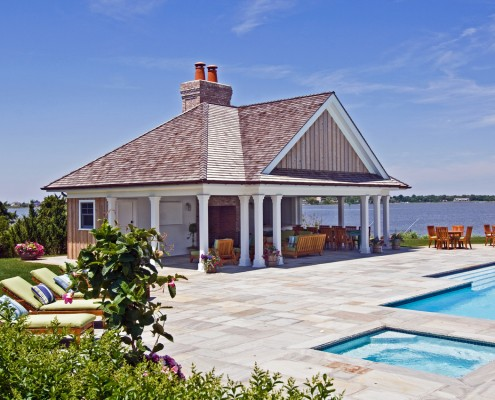 Bayfront Hamptons Pool House