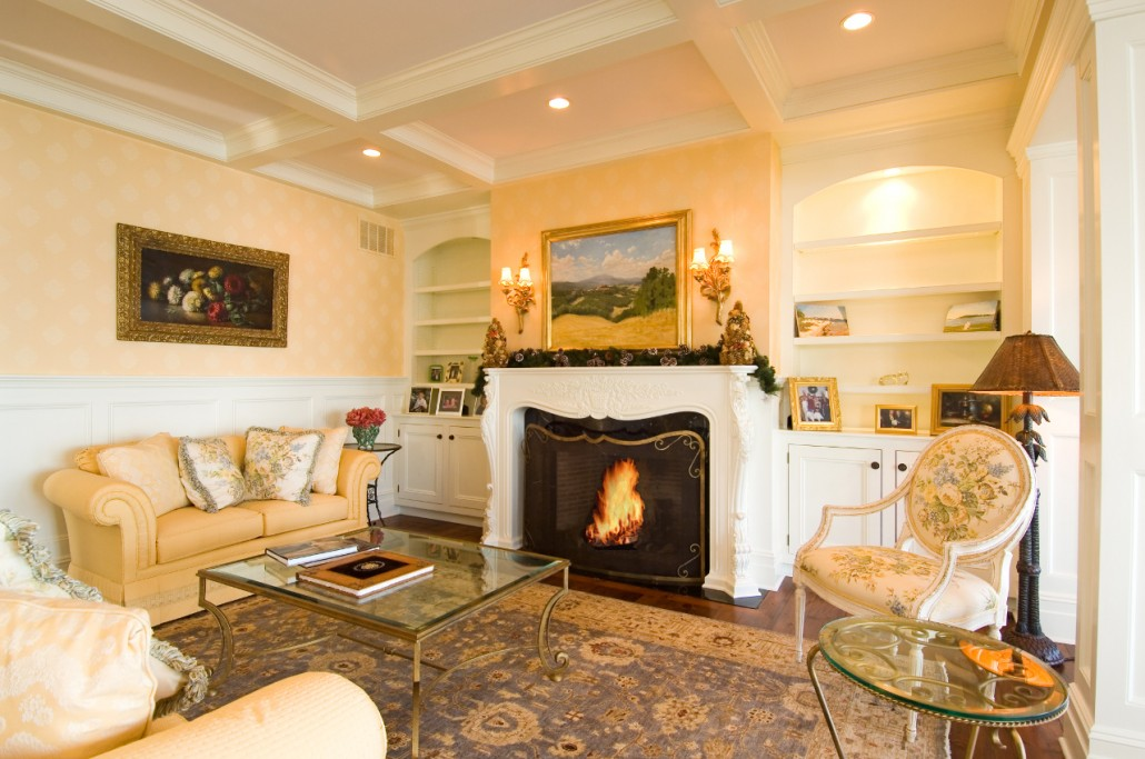 living room with fire place. Fireplaces  Hamptons Habitat
