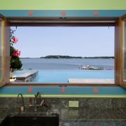 Bumblebee Manor - Pool House Window View
