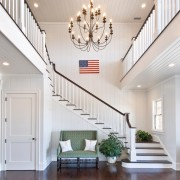 Hamptons Double Foyer with Stairway
