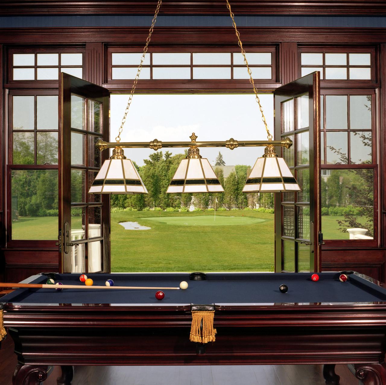 Hamptons billiard room putting green hamptons habitat for Garden pool table room