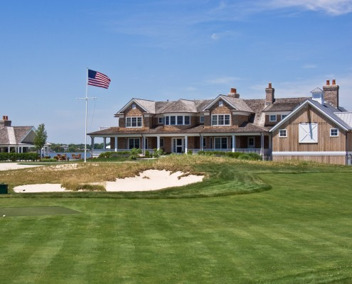 Hamptons Home with Waterfront Golf