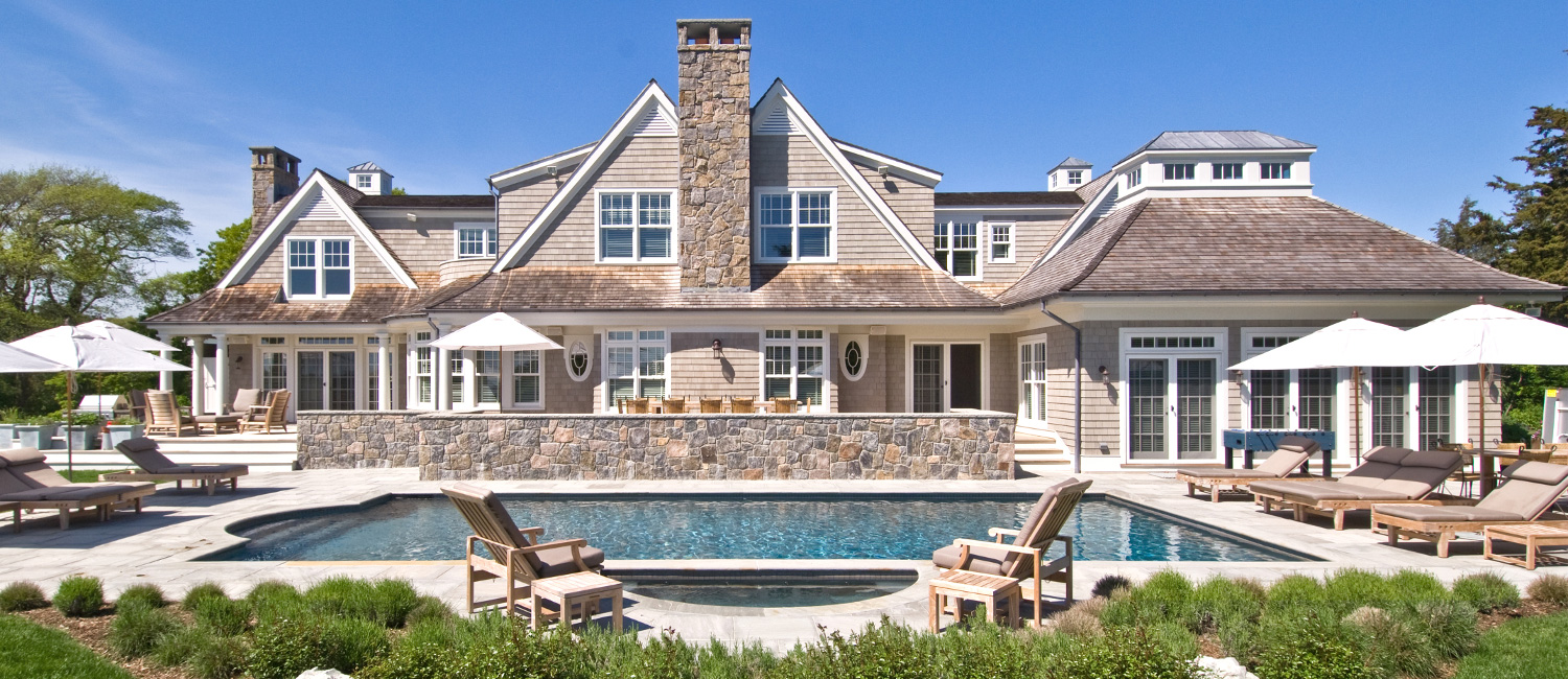 Westhampton Beach Shingle Style Home Poolside